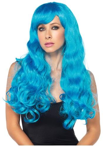Neon Blue Long Wig