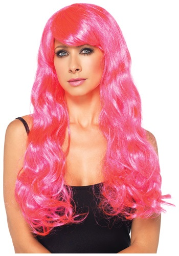 Click Here to buy Neon Pink Long Wig from HalloweenCostumes, CDN Funds & Shipping