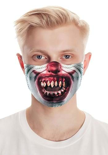Click Here to buy Razor Teeth Clown Face Mask from HalloweenCostumes, CDN Funds & Shipping