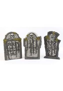 RIP Cross Tombstone w/ Moss Halloween Decoration Main