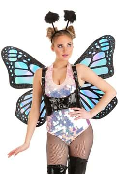 Womens Holographic Butterfly Wings