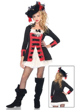Teen Charming Pirate Captain Costume
