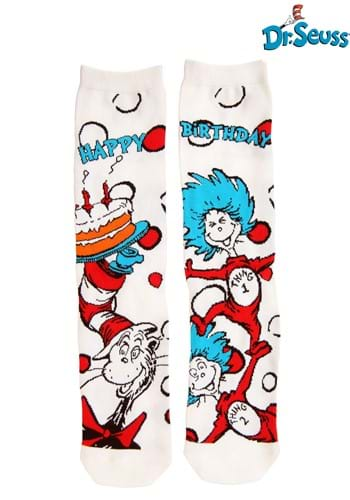 Adult The Cat in the Hat Birthday Crew Socks
