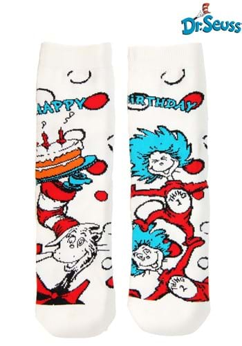 Click Here to buy The Cat in the Hat Birthday  Kids Crew Socks from HalloweenCostumes, CDN Funds & Shipping