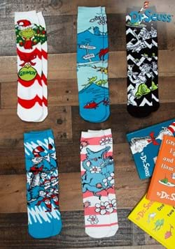 Adult Dr. Seuss Patterns Crew Sock Set 5 Pairs
