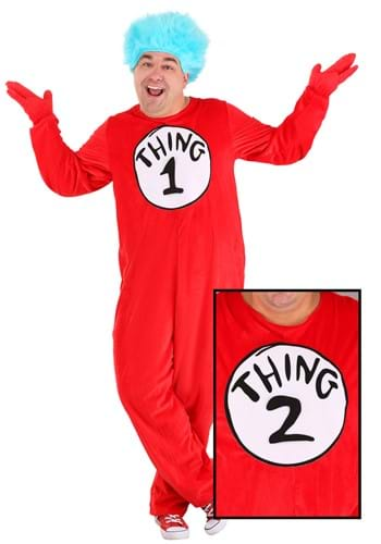 Thing 1&2 Plus Size Costume for Adults