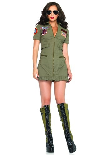 Click Here to buy Top Gun Flight Dress Costume from HalloweenCostumes, CDN Funds & Shipping