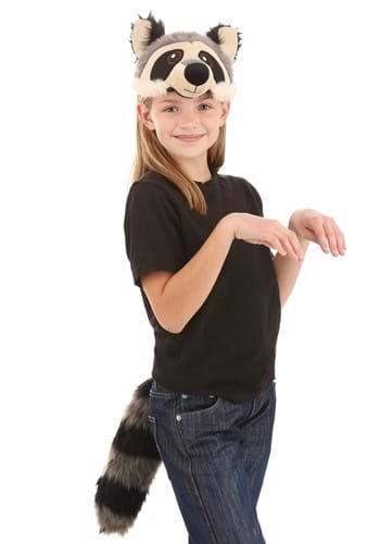 Raccoon Plush Headband & Tail Costume Kit
