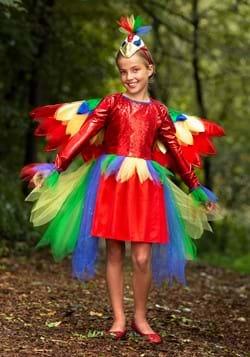 Girl's Tropical Parrot Dress Costume
