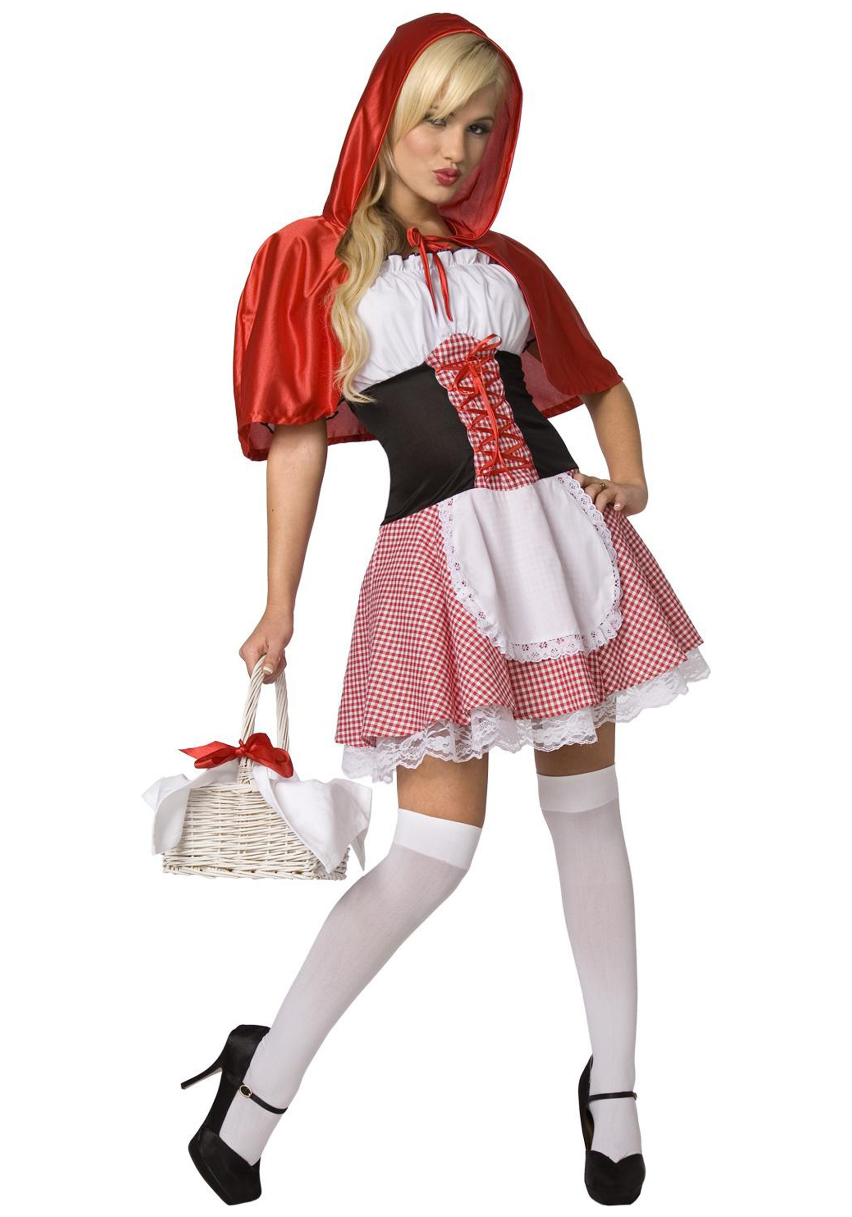 INOpets.com Anything for Pets Parents & Their Pets Plus Size Little Red Riding Hood Costume