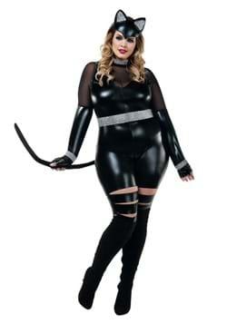Women's Sexy Plus Cat Burglar Costume