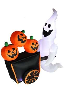 Inflatable 6ft Pumpkin Vendor Ghost
