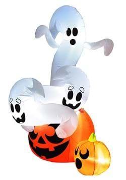 Inflatable 6ft Twisted Pumpkin and Ghosts Decoration