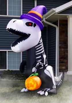 8 Foot Inflatable Skeleton T Rex Decoration