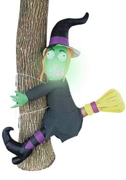 Inflatable 4 Ft Crashing Witch on a Tree Decoration