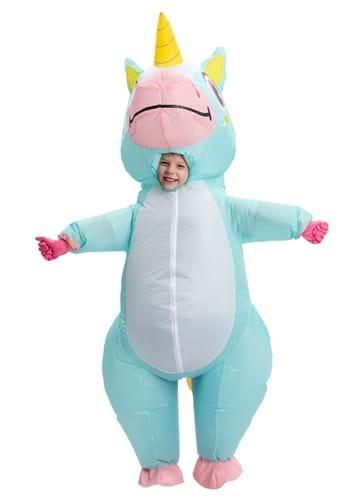 Child Blue Unicorn Inflatable Costume