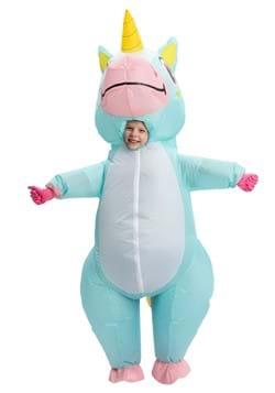 Inflatable Child Blue Unicorn Costume