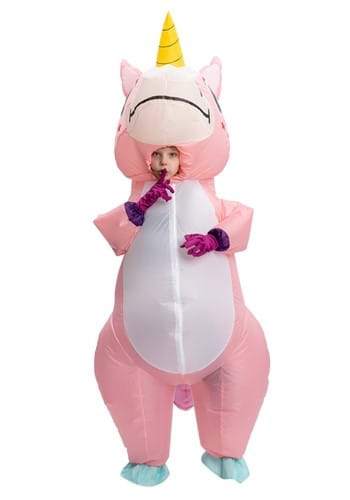 Inflatable Pink Unicorn Costume for a Child