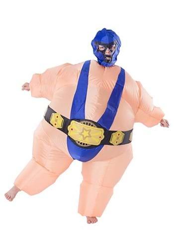 Child Inflatable Blue Wrestler Costume