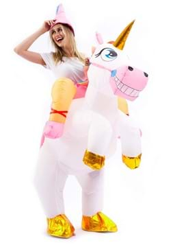 Inflatable Adult Unicorn Ride-On Costume