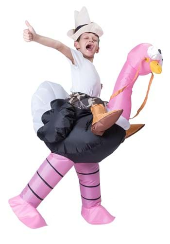 Click Here to buy Kids Inflatable Ostrich Ride-On Costume from HalloweenCostumes, CDN Funds & Shipping