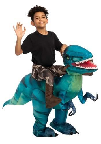 Kids Inflatable Raptor Ride-On Costume