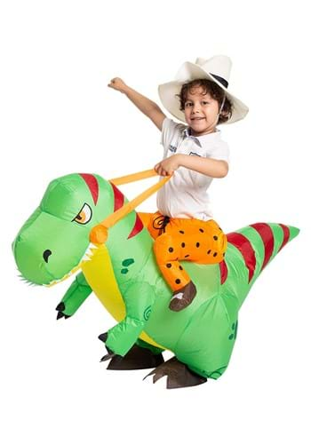 Kids Inflatable T-Rex Ride-On Costume