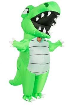Inflatable Child Green Dino Costume