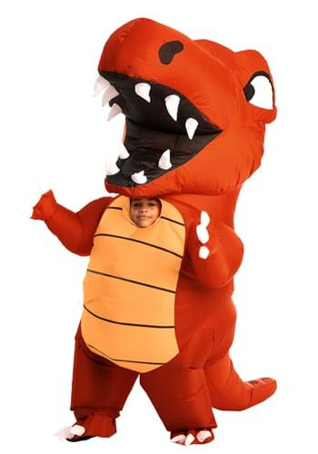 Kids Inflatable Red Dino Costume