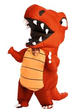 Inflatable Child Red Dino Costume