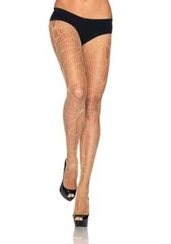 Nude Distressed Net Tights