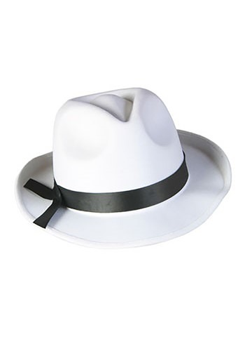 Click Here to buy White Fedora Hat from HalloweenCostumes, CDN Funds & Shipping