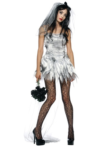 Click Here to buy Sexy Zombie Bride Costume from HalloweenCostumes, CDN Funds & Shipping
