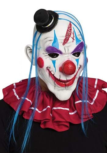 Adult Blue and Red Evil Clown Mask