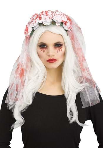 White Bridal Veil w/ Blood