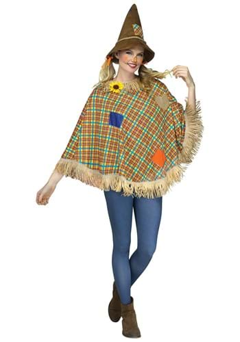 Sweet Scarecrow Poncho for Adults