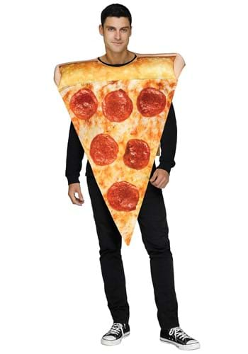 Click Here to buy Photoreal Pizza Slice Adult Costume from HalloweenCostumes, CDN Funds & Shipping