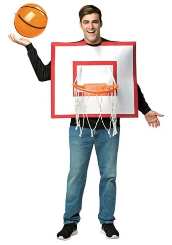 Click Here to buy Adult Basketball Hoop and Ball Costume from HalloweenCostumes, CDN Funds & Shipping