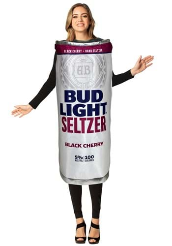 Bud Light Black Cherry Seltzer Can Adult Size Costume