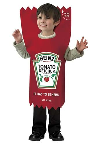 Click Here to buy Kids Heinz Ketchup Packet Costume from HalloweenCostumes, CDN Funds & Shipping