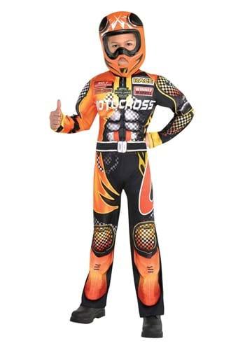 Boys Motocross Driver Kids Costume