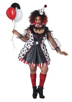 Women's Twisted Clown Plus Costume