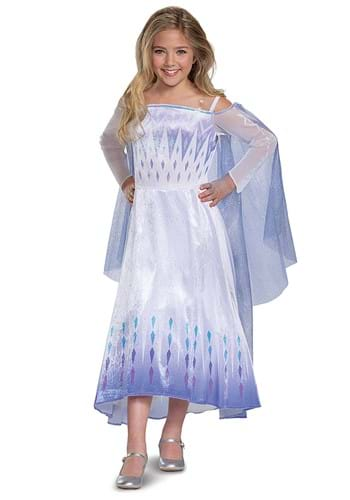 Click Here to buy Frozen Snow Queen Elsa Deluxe Kids Costume from HalloweenCostumes, CDN Funds & Shipping