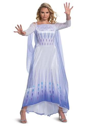 Click Here to buy Womens Frozen Snow Queen Elsa Deluxe Costume from HalloweenCostumes, CDN Funds & Shipping