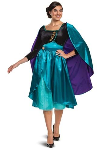 Click Here to buy Womens Frozen Queen Anna Deluxe Costume from HalloweenCostumes, CDN Funds & Shipping