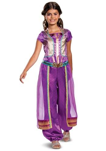 Click Here to buy Jasmine Purple Classic Aladdin Live Action Kids Costume from HalloweenCostumes, CDN Funds & Shipping