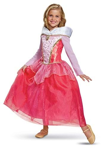 Click Here to buy Sleeping Beauty: Deluxe Aurora Girls Costume from HalloweenCostumes, CDN Funds & Shipping