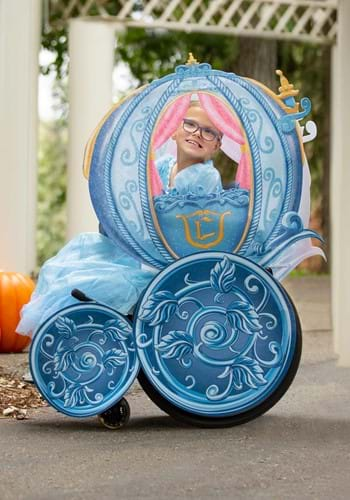 Click Here to buy Disney Princess Cinderella Carriage Wheelchair Cover Adaptive Costume from HalloweenCostumes, CDN Funds & Shipping
