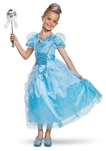 Click Here to buy Cinderella Kids Deluxe Costume from HalloweenCostumes, CDN Funds & Shipping