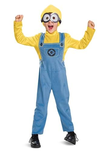 Click Here to buy Kids Minion Bob Costume from HalloweenCostumes, CDN Funds & Shipping